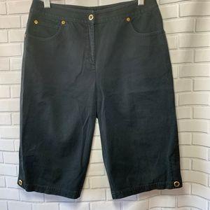 St. John Sport High Waisted Navy Capri Pants Sz 6